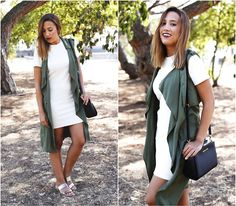 Get this look: http://lb.nu/look/7890530  More looks by Maria Inês Ribeiro: http://lb.nu/inesribeiro  Items in this look:  Zara Bodycon Dress, Zara Khaki Duster, Michael Kors Selma Messenger Bag   #casual #edgy #street #guesswhatblog #guesswhatoutfits #duster #bodycon #dress #zara