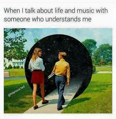 Everytime..... If i get into a good conversation with someone about something i love i go into a different universe with them