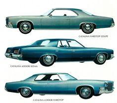 1971 Pontiac Catalina 2 dr Hardtop, 4 dr Sedan and a 4 dr Hardtop