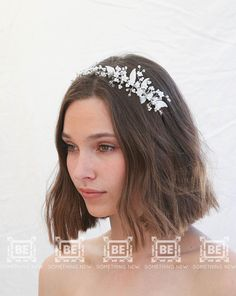 Beaded Wedding Tiara with Tiny Flowers Pearls and Crystals, Wired Bridal Headband, Delicate Flower Crown This Bridal Headband is covered with delicate flowers, pearled leaves, and small pearls and crystals all wired with silver wire to a silver headband. The beading is heavy on one