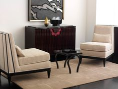 Buy Richard Mishaan - Collectión de Colombe Slipper Chair - Lounge Chairs - Seating - Furniture - Dering Hall