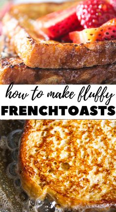 Cinnamon French Toast The simplest cinnamon french toast recipe made with milk, eggs, vanilla, sugar and cinnamon. Quick High Protein Breakfast, Second Breakfast, Breakfast Toast, Quick And Easy Breakfast, Sweet Breakfast, Breakfast For Kids, Breakfast Ideas, Breakfast Recipes, Brunch Ideas