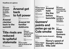 lievekuka:  Typography plays the Arsenal way by Ivo Runggaldier