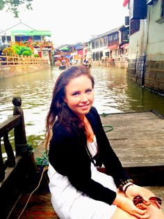 Shopping in Shanghai's water town :)