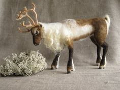Needle Felted Reindeer by Ainigmati