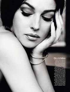 Bellucci Monica ELLE SPAIN MAY 2013 Black White Monica Bellucci for Elle Spain May 2013