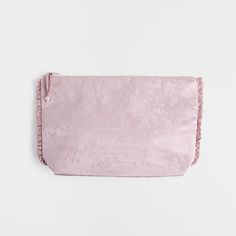 SILK JACQUARD TOILETRY BAG WITH FRILL - Accessories - Homewear & shoes | Zara Home United Kingdom Zara Home, Toiletry Bag, No Frills, United Kingdom, The Unit, Silk, Bags, Accessories, Shoes