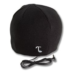 Amazon.com: Tooks CLASSIC Headphone Beanie With Built-in Removable Headphones - COLOR: BLACK: Electronics