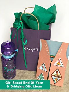 End of Year Girl Scout Gift and Bridging Ideas