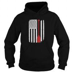 Rowing Paddle Kayak Canoe - America USA Flag T-Shi T-Shirts - Men's T-Shirt