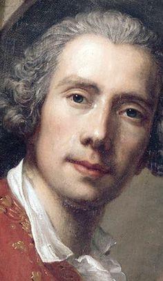 Guillaume Voiriot (1713–1799), self portrait 1749.  French portrait painter born in Paris.