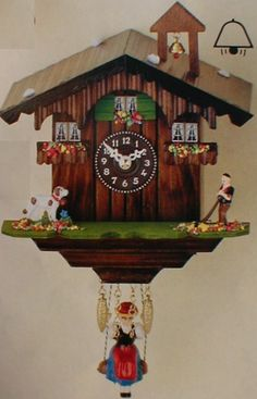 The Old German Black Forest Clock