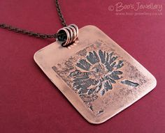 Boos Jewellery: New Adventures in Etching