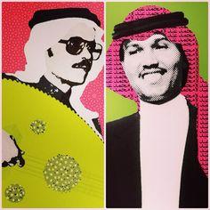 Instagram media by classic_art_ - - قريباً جداً متوفرة لـ البيع   لوحة محمد عبده و لوحة طلال مداح ❤️ #poparts  #popartsaudi  #saudiart  #saudipopart