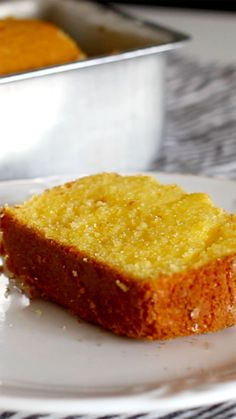 Recipe with video instructions Brazilian Corn Bread recipe Ingredients 3 eggs cup oil 1 cup sugar 2 cups fubá fine corn flour 1 cup milk 1 Tbsp baking powder 1 pi. Easy Cake Recipes, Bread Recipes, Baking Recipes, Sweet Recipes, Snack Recipes, Corn Flour Recipes, Cornmeal Recipes, Sponge Cake Recipes, Pound Cake Recipes