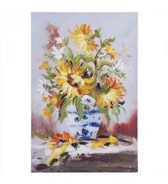 CANVAS OIL PAINTING W_FLOWERS 60X90