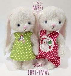 The two big Matilda bunnies wish you a very merry Christmas this year. Much love and many hugs, Jean xo Elephant Pattern, Cat Pattern, Free Pattern, Very Merry Christmas, Bunny Rabbit, Matilda, Hugs, Bunnies, Two By Two