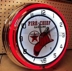 Lackner neon clock beer sign gas oil replacement decals