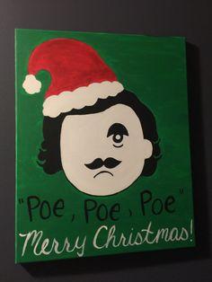 Edgar Allan Boh Christmas by HeartfeltCanvas on Etsy