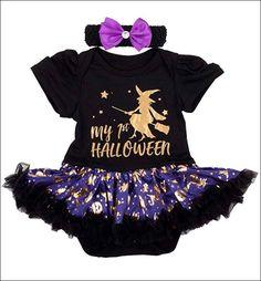 Halloween Bodysuit Baby Bib 1st Holiday Creeper Romper Costume Boys Girls