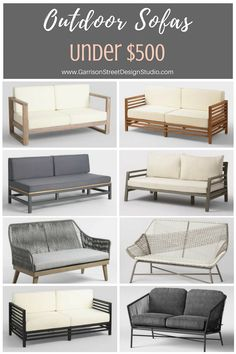 Modern boho patio couch new ideas White Patio Furniture, Patio Furniture Cushions, Couch Furniture, French Furniture, Furniture Layout, Furniture Outlet, Furniture Styles, Pallet Furniture, Discount Furniture