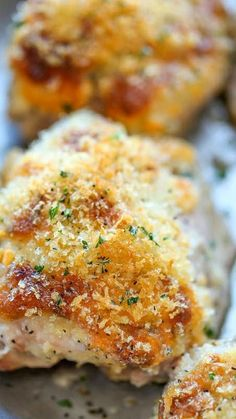 Ranch Cheddar Chicken ~ The quickest and easiest baked chicken with an amazingly creamy, cheesy Ranch topping!