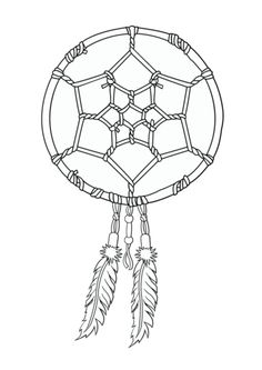 Native American Coloring Pages {Printable} Dreamcatcher, Feathers ...