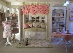 curtains for American Girl doll house