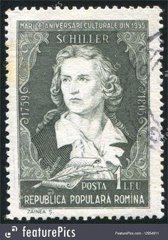 code qr   ROMANIA - CIRCA 1955: stamp printed by Romania, show Friedrich von ...