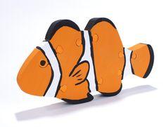 Orange Clownfish Puzzle - Clownfish Decor - Children's Room Decoration