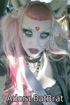 Adora Batbrat in Nox Hyde cosplay ears Dark Fashion, Gothic Fashion, Adora Batbrat, Goth Model, Goth Look, Goth Beauty, Kittens Playing, Animal Ears, Love Her Style