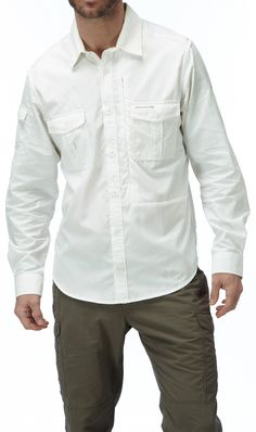 Repel biting bugs and protect yourself from UV rays with our travel shirt. Men's NosiLife Long-sleeved Shirt | National Geographic Store