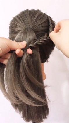 Curls For Long Hair, Bun Hairstyles For Long Hair, Short Hair Updo, Easy Hairstyle Video, Long Hair Video, Front Hair Styles, Medium Hair Styles, Hair Tutorials For Medium Hair, Hair Braider