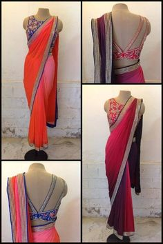 IT'S PG'LICIOUS fancy blouse with a simple sari