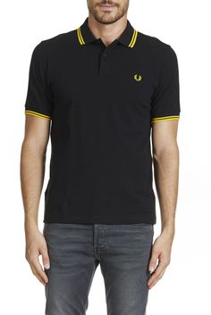 POLO TWIN TIPPED FRED PERRY NOIR}