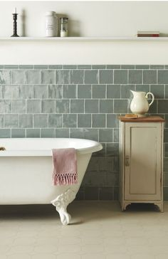 Image result for roman stone zellige bathroom