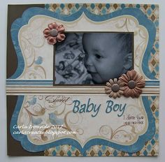 baby scrapbook pages layouts | visit carlacreates blogspot com