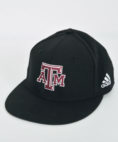 90110097a3e Texas A M Aggies Adidas Men s Black On Field Baseball Flatbill Fitted Cap