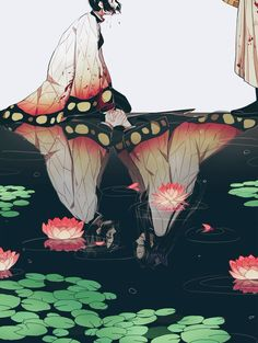 Anime picture kimetsu no yaiba kochou shinobu kochou kanae douma (kimetsu no yaiba) coconazuko long hair 613579 en Anime Chibi, Manga Anime, Fanarts Anime, Anime Love, Sad Anime, Anime Demon, Anime Angel, Otaku Anime, Manga Japan