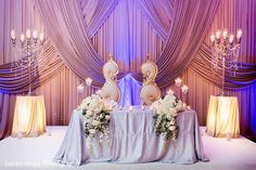 indian wedding reception floral and decor http://www.maharaniweddings.com/gallery/photo/67880 @sapanahuja