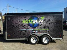 Lettrage remorque cargo trailer wrap on pinterest for Evergrain com