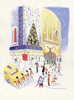 Navidad en Rockefeller Center, por Dominique Corbasson