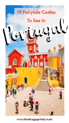 19 Beautiful Castles In Portugal You Have To Visit Visit Portugal, Spain And Portugal, Beautiful Castles, Beautiful Beaches, Travel With Kids, Family Travel, Portugal Travel Guide, Portugal Trip, Fairytale Castle