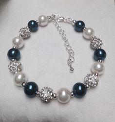 Swarovski pearl and rhinestone pave bracelet