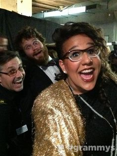 Brittany Howard of Alabama Shakes just off stage after her performance for the Levon Helm tribute at the 2013 Grammy's.