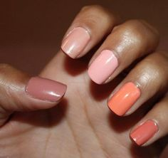 love this manicure! the nail colors are perfect together.