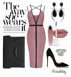 """Ladies Night"" by visualxtasy on Polyvore featuring Rare London, Christian Louboutin, Givenchy, Jorge Adeler, Allurez, women's clothing, women's fashion, women, female and woman"