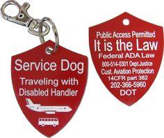 Activedogs.com | Engraved Service Dog Travel Tag