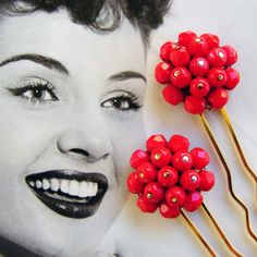 Adorable hair pins. I am seeing a funky braid with these babies and some red lipstick.