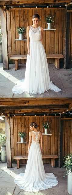 Simple Lace Knee Length Tulle Summer Beach Wedding Dress Beach